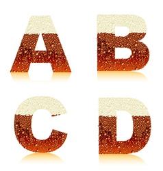 alphabet dark beer vector image vector image