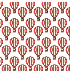 Balloons air travel icon vector