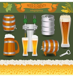 Beer infographics set elements for creating your vector image