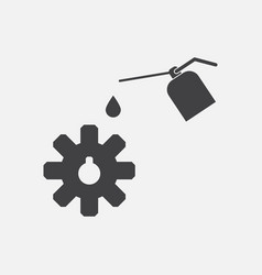 Black icon on white background gear and oil vector