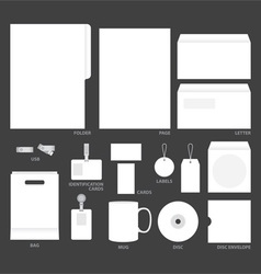 blank templates vector image vector image