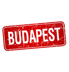 Budapest red stamp isolated on white background vector
