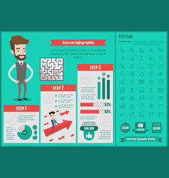 Business success infographic template vector