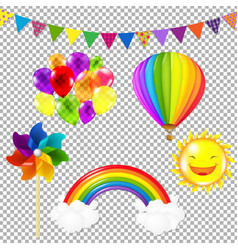Color kids set vector