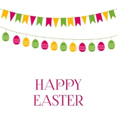 Easter greeting card with garlands vector image vector image