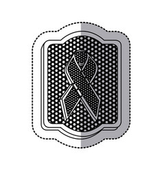 emblem black breast cancer icon vector image