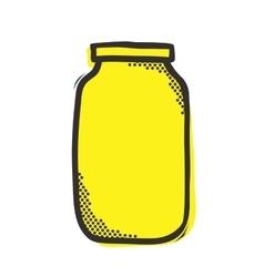 Empty mason jar isolated vector image vector image
