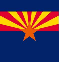 Flag of arizona usa vector
