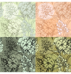 Flowers handdrawn 11 380 vector