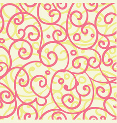 Freehand floral motifs seamless pattern vector