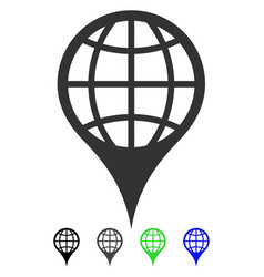 Global location flat icon vector