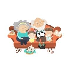 Grandparents and grandchildren vector image