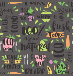 hand drawn style seamless pattern bio organic eco vector image