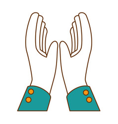 Hands applauding isolated icon vector