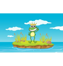 King Cartoon Frog vector image vector image