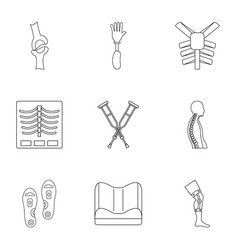 Orthopedic disease icon set outline style vector