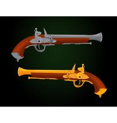 Pistol 18th century vector image