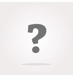 Question mark icon web button Web Icon Art vector image