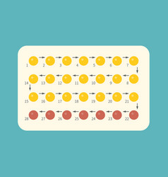 strip of 28 contraceptive pill vector image