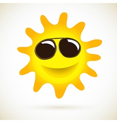 Sun Smile Summer Icon vector image vector image