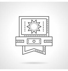 Video processing application flat line icon vector image vector image