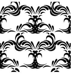 Vintage decorative black seamless dama vector