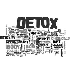 What are the side effects of a detox text word vector