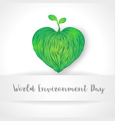 World environment day concept abstract love the vector