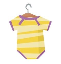 Yellow bodysuit for baby vector