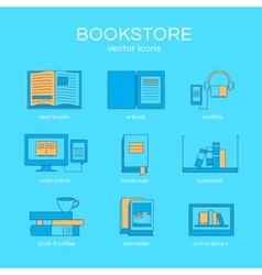 Set of books vector