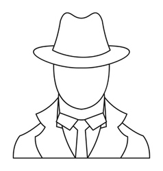 Spy icon outline style vector