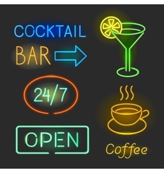Colorful glowing neon lights graphic vector image
