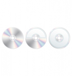 Compact disc with label set vector