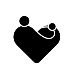 mother with her child in her hands simplified vector image