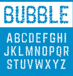 Alphabet bubble font template letters bubbles vector
