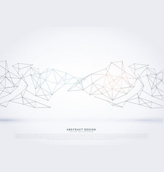 Elegant technology wireframe mesh array vector