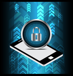 Technology digital cyber security lock circle vector