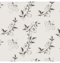 Retro floral pattern with flowers vector