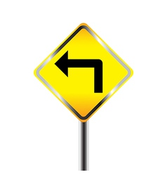 Turn left traffic sign vector image