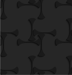 Black 3d shapes forming squares vector