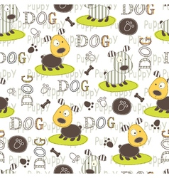 Seamless pattern with dog 5 vector