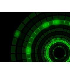 Glowing Green Circles vector image