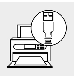 printer office design vector image