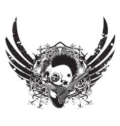 grunge music emblem vector image