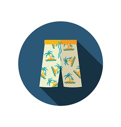 Men beach shorts flat icon summer vacation vector