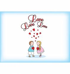 love love vector image