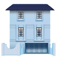 A big multi-story house vector