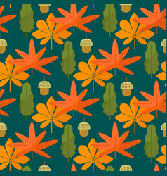 Autumn foliage concept seamless pattern vector
