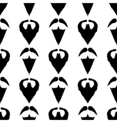 Beard mustache silhouette seamless background vector