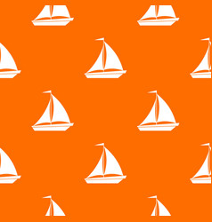 Boat with sails pattern seamless vector